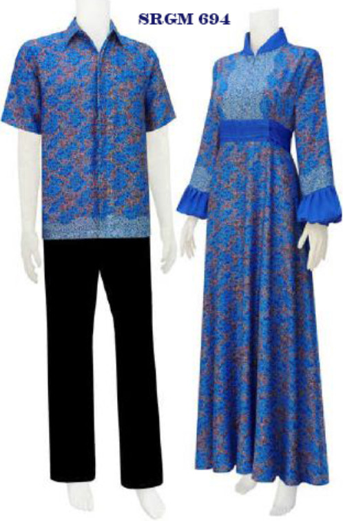 Sarimbit Batik Gamis Code Srgm 69 Koleksi Baju Batik Modern