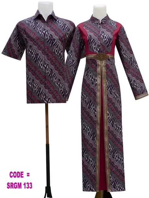 Gamis Batik Sarimbit Model Srgm 13 Koleksi Baju Batik Modern