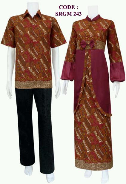 Batik Gamis 243  Koleksi Baju Batik Modern