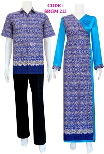 Batik Gamis Srgm 213 Koleksi Baju Batik Modern