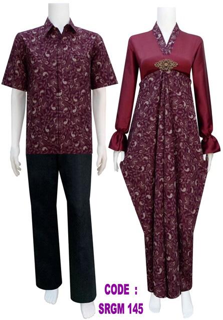Batik Muslim Srgm 145 Koleksi Baju Batik Modern