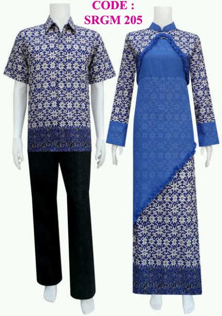 Gamis Batik Srgm 205  Koleksi Baju Batik Modern
