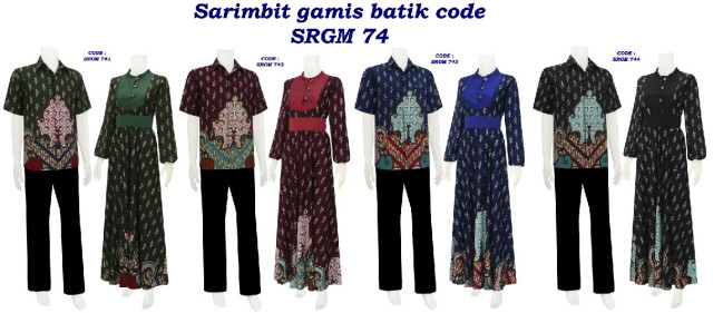 sarimbit batik, sarimbit gamis, batik sritek, batik modern