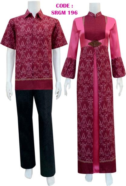 Model Gamis Batik 196  Koleksi Baju Batik Modern