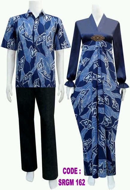 Model Gamis Batik Srgm 162 Koleksi Baju Batik Modern