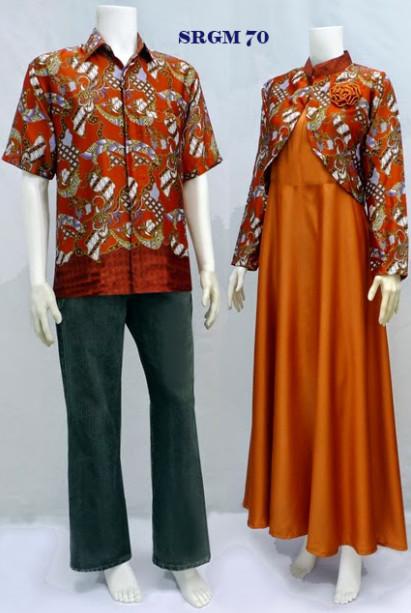Sarimbit Gamis Batik Code Srgm 70 Koleksi Baju Batik Modern