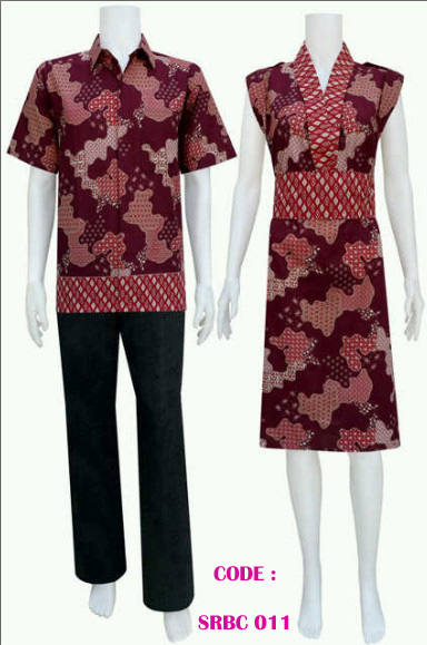 dress batik pasangan cocok untuk baju kerja atau baju pesta code SRBC ...