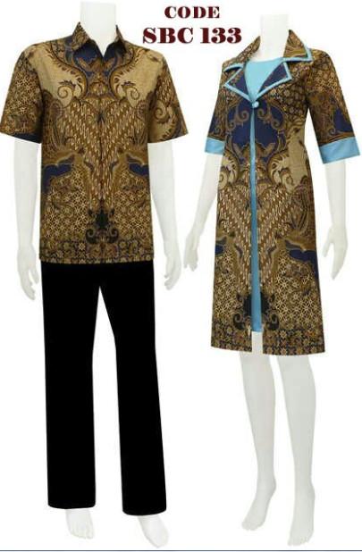 sarimbit dress batik dengan dalaman UcanC code SRBC 13