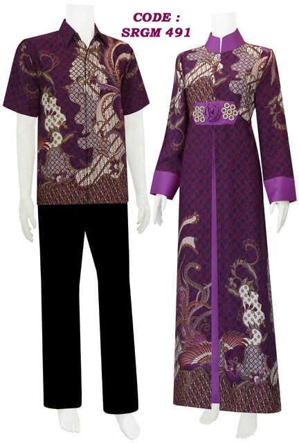 Gamis Batik Model Belah Tengah Payet Mawar Code Srgm 49