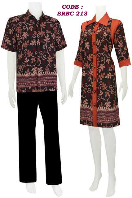 Sarimbit dress batik model kancing depan code SRBC 21