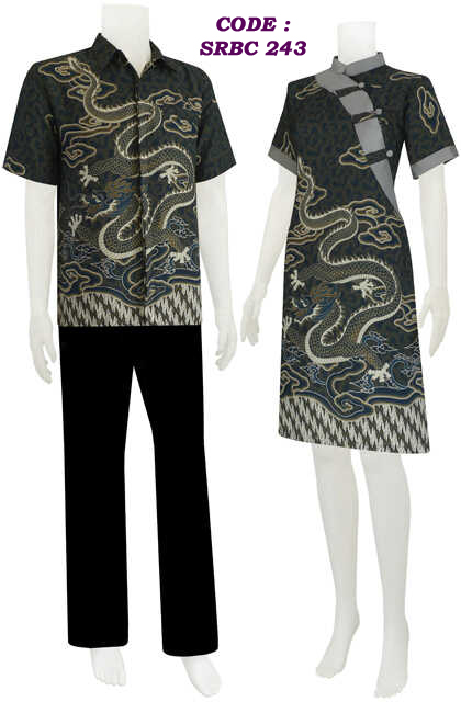 Dress batik motif ular naga , code SRBC 24 | koleksi baju batik modern
