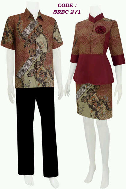 Dress Batik Modern Model Setelan Rok Blouse Code Srbc 27