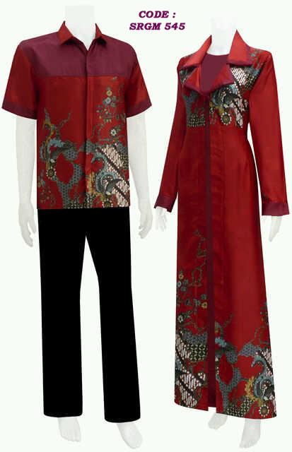 Koleksi Busana Batik Model Gamis Jubah Koleksi Baju