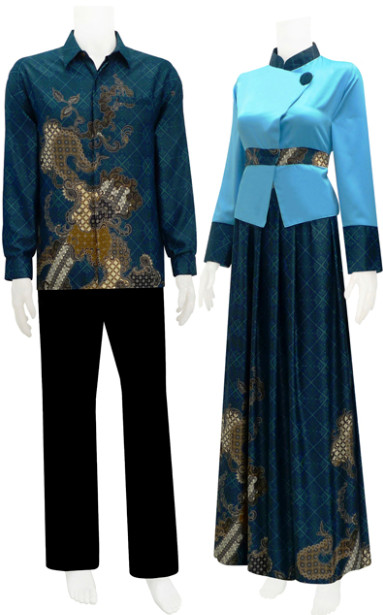 gamis batik blazer + rok rample SRGM 55 | koleksi baju ...