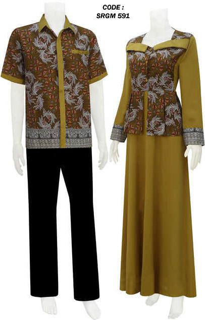 Gambar Gamis Batik Koleksi Baju Batik Modern