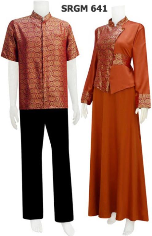 Koleksi Sarimbit Gamis Batik Serat Nanas Code Srgm 64