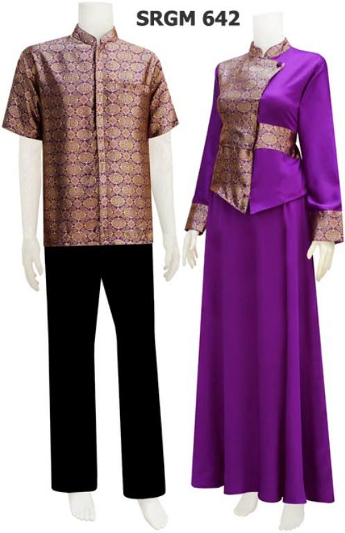 Gamis Batik Serat Nanas code SRGM 64 | koleksi baju batik modern