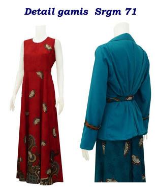 sarimbit batik, batik balero, gamis b
