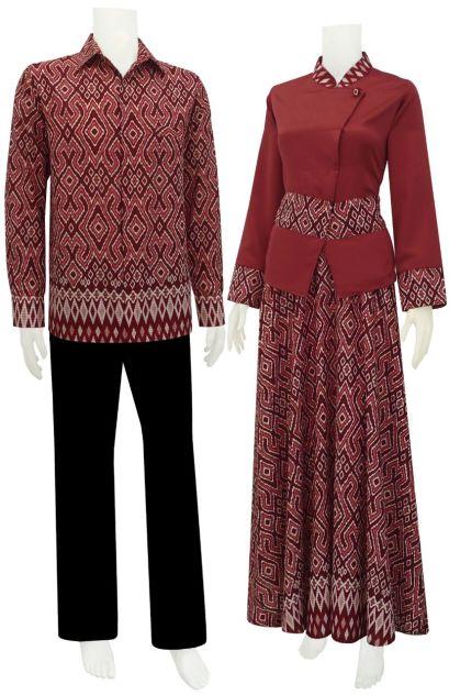 sarimbit batik, batik modern, batik keris, gamis batik